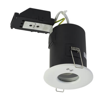 KSR Lighting Fixed Fire Rated Downlight - IP65 - White)