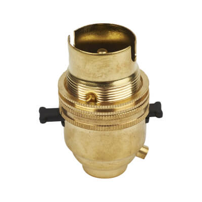 Lampholder with Switch Bar - Solid Brass )