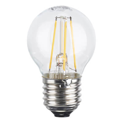 4W ES LED Filament Golf Ball Lamp - Warm White)