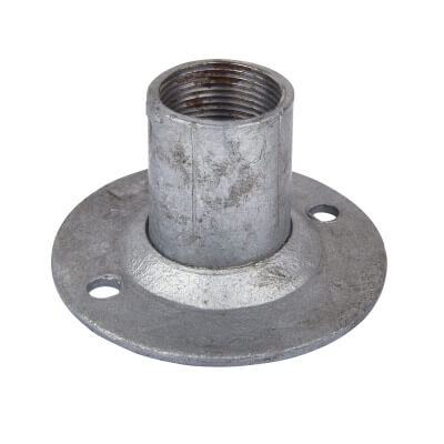 Steel Conduit Dome Cover - 25mm - Galvanised)