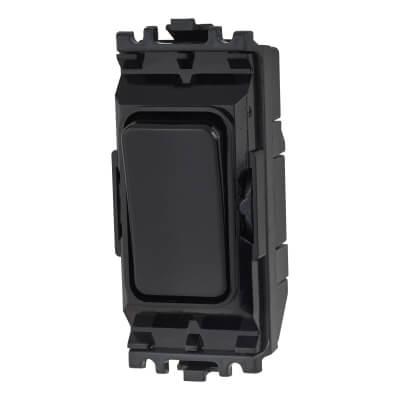 MK 10A 2 Way Single Pole Grid Switch - Black  )