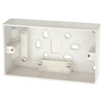 BG 2 Gang 45mm Rectangular Surface Box - White