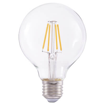 4W LED Vintage Globe - E27 - Clear)