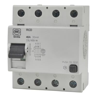 MK 30A 40mA 4 Module RCD