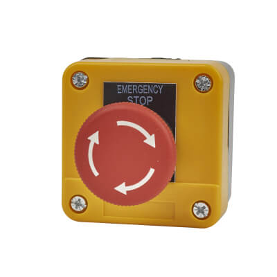 Lewden Stop Button - IP55 - 68 x 68mm