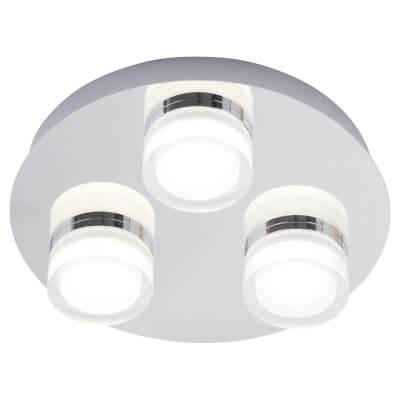 Forum Amalfi 3 Plate LED Flush Light - Chrome)